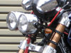 Picture of Hayabusa forks to GSX1400 Front end conversion